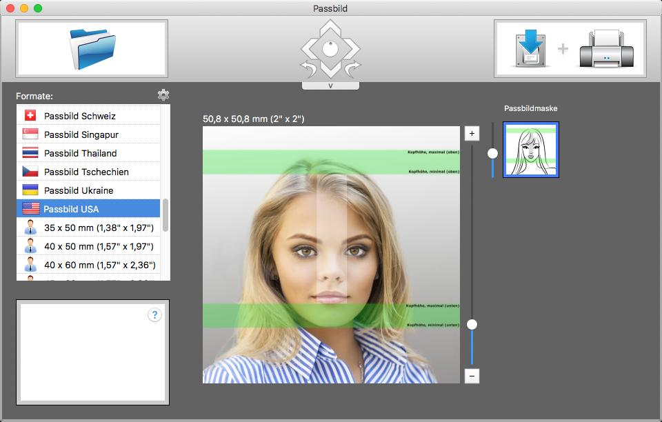 passbild app f r mac os x biometrische passfotos. Black Bedroom Furniture Sets. Home Design Ideas